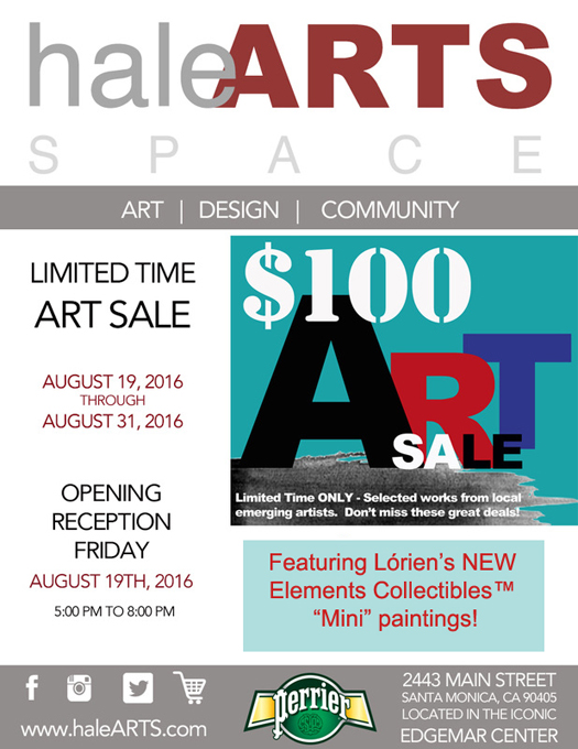 image of flyer for Hale $100 art show