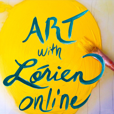 art with lorien yellow paint image with paintbrush