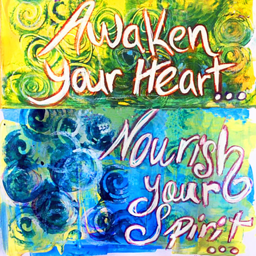 Image of painting promoting Awaken Your Heart Workshop