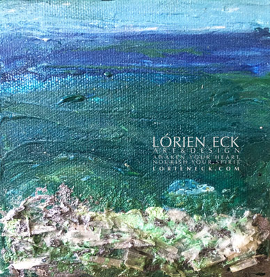 image of element collectible water 6, a mixed media painting by lorien eck