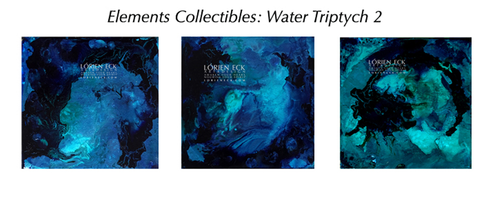 Water 2 Triptych, a Lorien Eck EC mixed media painting