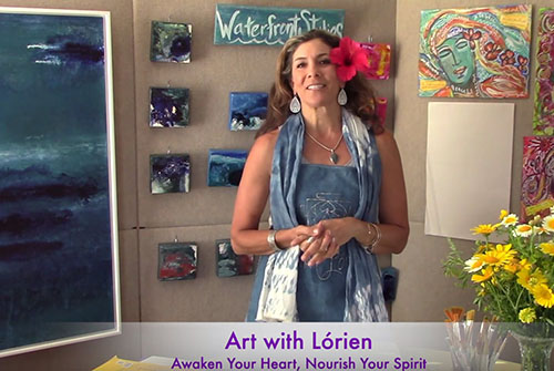 Image of Lorien on her Art with Lorien Youtube channel page