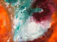 carina nebula IV mixed media painting