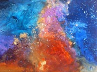 carina nebula I mixed media painting