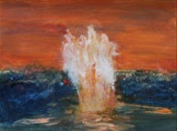 fire and water painting - Earth and Above Collection by Lorien Eck