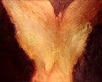 thumbnail of fire III mixed media painting