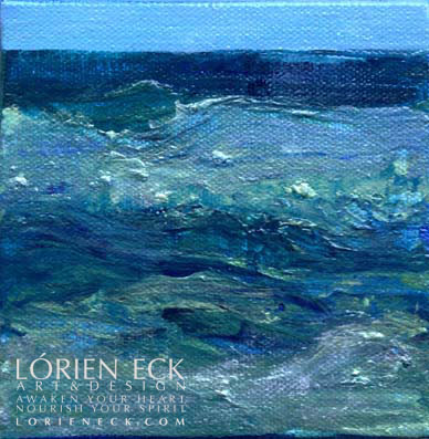 image of EC Water1 mixed media painting by Lorien Eck