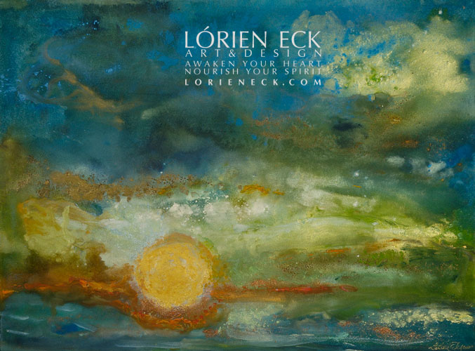 image of lorien eck's painting ciel mer III for hospitality art giclee